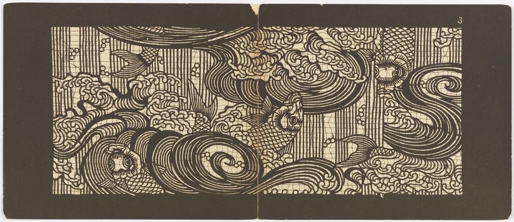 Katagami pochoir textile japonais